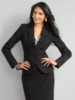 City Stretch Jacket in Solid Black - Average