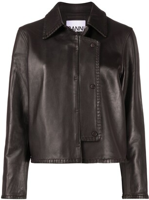 Ganni Boxy Leather Jacket