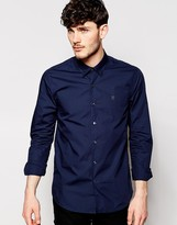 Peter Werth Formal Shirt with Concealed Button Down Collar in Slim Fit