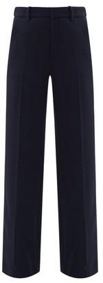 Roland Mouret Lucanus Wool-crepe Wide-leg Trousers - Navy
