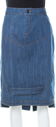 Preen Line Blue Patch Denim Pencil Skirt L