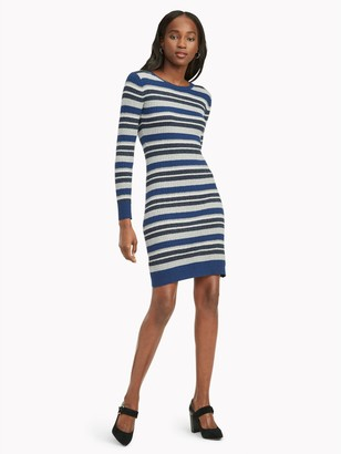 Tommy Hilfiger Essential Metallic Stripe Dress