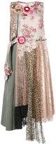 Antonio Marras layered print dress - women - Linen/Flax/Polyester/Lyocell/Viscose - 44
