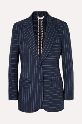 Thom Browne Pinstriped Cotton Blazer - Navy