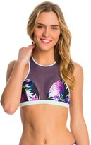 Roxy Women's Carribean Sunset Racerback Sports Bra Bikini Top 8137531
