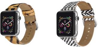Posh Tech Multi Animal Print Leather Band for 38mm/40mm Apple Watch Series 1, 2, 3, 4, 5 - Pack of 2