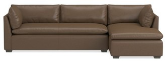 Williams-Sonoma Laguna 2-Piece L-Shape Leather Loveseat with Chaise, Right