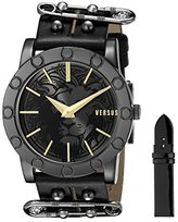 Versus By Versace Women's SF7060014 Miami Analog Display Quartz Black Watch