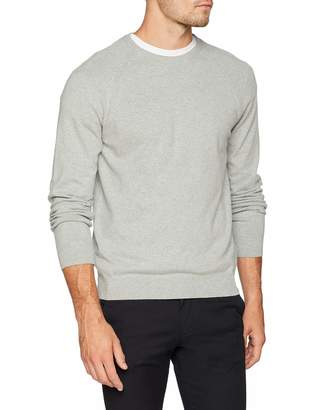 French Connection Men's Stretch Cotton Crew Long Sleeve Top