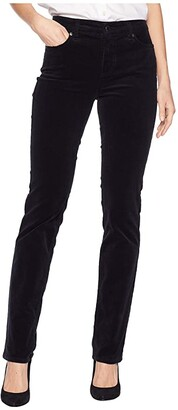 Lauren Ralph Lauren Premier Straight Corduroy Jeans (Polo Black) Women's Casual Pants