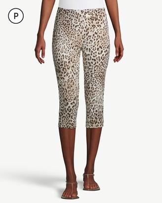 So Slimming Petite Brigitte Cheetah-Print Slim Capris