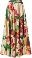 Isolda - mango and floral skirt - women - Linen/Flax - 36