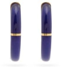 Retrouvaí Alchemy Lapis Lazuli & 14kt Gold Hoop Earrings - Blue