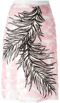 Emilio Pucci embroidered feather skirt