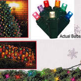 Asstd National Brand 4' X 6' Multi-Color LED Wide Angle Net Style Christmas Lights with Green Wire