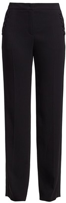 Escada Tassu Button-Trimmed Tuxedo Trousers