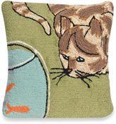 Liora Manné Frontporch Curious Cat Square Throw Pillow