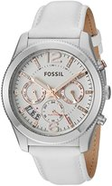 Fossil Women's ES4250 Perfect Boyfriend Sport Multifunction White Leather Watch