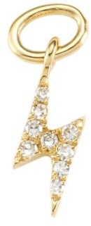 Ef Collection 14K Yellow Gold & Diamond Lightning Bolt Single Earring Charm