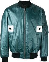 Kenzo eyelet detail bomber jacket - men - Polyamide/Acetate/Cotton - S