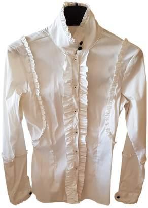 Aglini White Cotton Top for Women