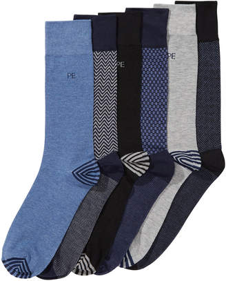 Perry Ellis Men 6-Pk. Herringbone Dress Socks