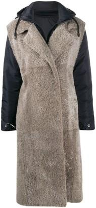 Liska Shearling Shell Lambskin Coat