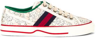 Gucci Tennis 1977 Sneaker in Mint Peach & White & Blue & Red | FWRD