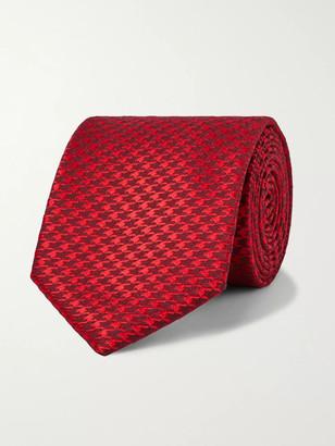 Charvet 7.5cm Houndstooth Silk And Wool-Blend Tie