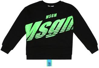 MSGM Kids Logo cotton sweatshirt
