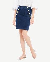 Ann Taylor Petite Denim Sailor Skirt