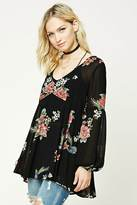 Forever 21 FOREVER 21+ Contemporary Rose Print Tunic