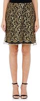 Alberta Ferretti WOMEN'S GUIPURE LACE SKIRT-BLACK, GOLD, NO COLOR SIZE 46 IT