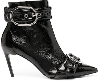 Diesel Pointed-Toe Leather Ankle Booties