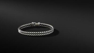 David Yurman Woven Box Chain Bracelet In Black