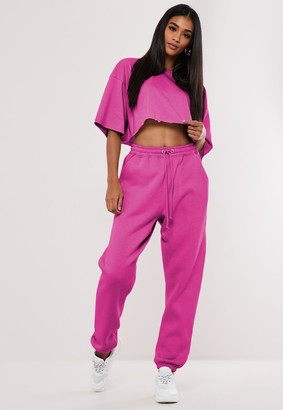 Missguided Fuchsia Oversized 90'S Joggers