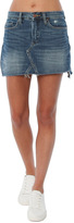 Blank NYC Raw Edge Mini Skirt with Asymmetrical Hem
