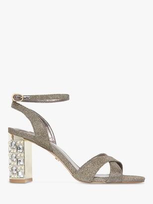 Dune Million Embellished Block Heel Sandals, Pewter