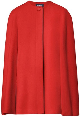 Rumour London Cora Wool & Cashmere-Blend Cape Coat In Red