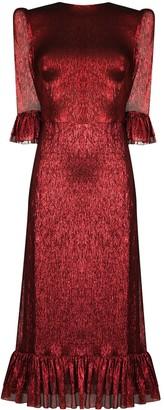 The Vampire's Wife Metallic Ruffle Detail Dress