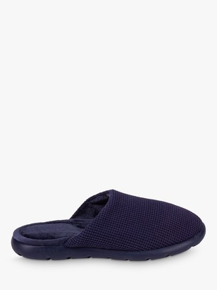 totes iFlex Waffle Mule Memory Foam Slippers, Navy