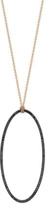 ginette_ny 18k Rose Gold Jumbo Eclipse Black Diamond Necklace
