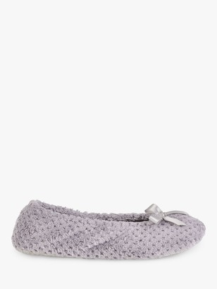 totes Memory Foam Popcorn Ballet Slippers, Grey