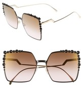 Fendi Women's 60Mm Gradient Square Cat Eye Sunglasses - Black