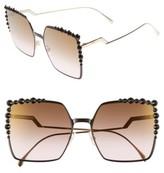 Fendi Women's 60Mm Gradient Square Cat Eye Sunglasses - Black