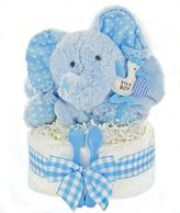 Gingham & Giggles One Tier Diaper Cake-Boy, 1 by Cashmere Bunny