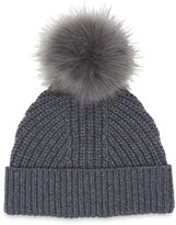Whistles Chunky Marl Pom Hat