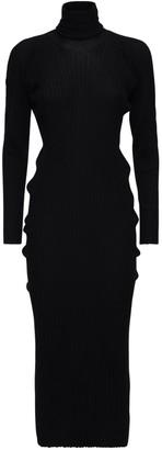 Bottega Veneta Wool Rib Knit Sweater Dress