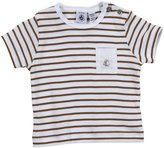 Petit Bateau T-Shirt With Boat Detail (Baby) - Beige/White-24 Months