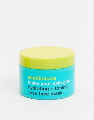 Anatomicals Make Your Skin Grin Rose Face Mask 125ml